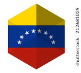 venezuela flag hexagon flat... | Shutterstock .eps vector #212681029