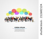 Business social networking and communication concept. Vector illustration | Shutterstock vector #212682124