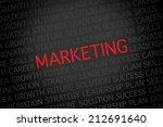 marketing text on black... | Shutterstock . vector #212691640
