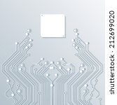 3d circuit board background... | Shutterstock .eps vector #212699020