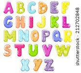 cartoon alphabet  | Shutterstock .eps vector #212702848