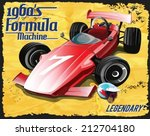 vector retro formula race car
