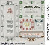 border style labels on... | Shutterstock .eps vector #212704234