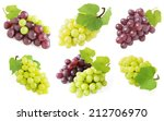 grapes branches isolated on... | Shutterstock . vector #212706970