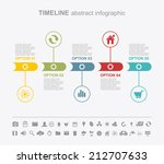 timeline abstract infographics... | Shutterstock .eps vector #212707633