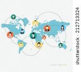 concept for social network.... | Shutterstock .eps vector #212713324