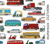 cartoon retro cars seamless... | Shutterstock .eps vector #212714086