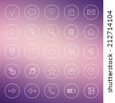 set of icons for internet ... | Shutterstock .eps vector #212714104