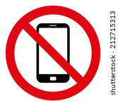 no cell phone sign | Shutterstock .eps vector #212715313