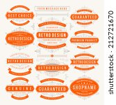 vector vintage design elements. ... | Shutterstock .eps vector #212721670
