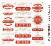 vector vintage design elements. ... | Shutterstock .eps vector #212721718