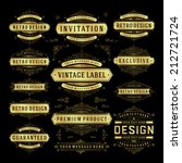 vector vintage design elements. ... | Shutterstock .eps vector #212721724