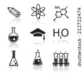 chemistry icons  for learning... | Shutterstock .eps vector #212722474