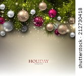 christmas background with balls.... | Shutterstock .eps vector #212730418