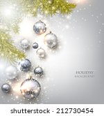 christmas background with balls.... | Shutterstock .eps vector #212730454