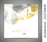 abstract 3d geometric gold... | Shutterstock .eps vector #212730640
