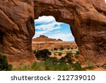pine tree arch | Shutterstock . vector #212739010