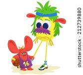 play with monsters | Shutterstock .eps vector #212739880