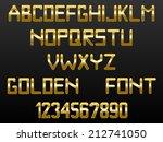 custom golden font of english... | Shutterstock .eps vector #212741050