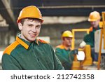 happy young adult electrician... | Shutterstock . vector #212742358