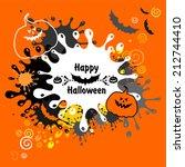 halloween card. vector... | Shutterstock .eps vector #212744410