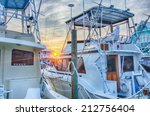 view of sportfishing boats at...