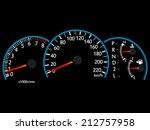 speedometer illustration vector ... | Shutterstock .eps vector #212757958