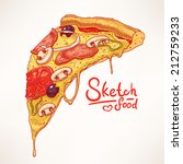 a slice of hand drawn...   Shutterstock .eps vector #212759233