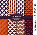 set of halloween backgrounds.... | Shutterstock .eps vector #212760148