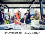diverse group of people... | Shutterstock . vector #212765824