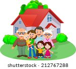 happy cartoon family | Shutterstock .eps vector #212767288