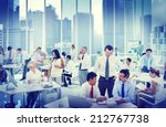 Business People Working In An...