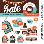 set of sale promotion design...   Shutterstock .eps vector #212769538