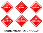 warning signs set created for... | Shutterstock . vector #212770969