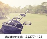 golf clubs in a bag with you to ... | Shutterstock . vector #212774428