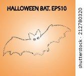 grunge halloween bat   Shutterstock .eps vector #212780320