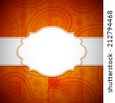 frame in the indian style on... | Shutterstock .eps vector #212794468