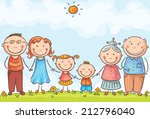 happy family with two children... | Shutterstock .eps vector #212796040