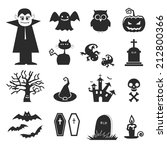 collection of  halloween icons. ... | Shutterstock .eps vector #212800366