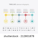 timeline abstract info graphics ... | Shutterstock .eps vector #212801878