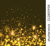 vector gold sparkle glitter... | Shutterstock .eps vector #212805934