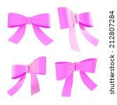 set of magenta decorational... | Shutterstock . vector #212807284