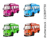bus icon set. color car... | Shutterstock . vector #212809750