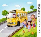 illustration of kids and school ...   Shutterstock . vector #212813884