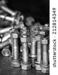steel bolt  nut   spring washer | Shutterstock . vector #212814349