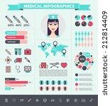 vector medical infographic set... | Shutterstock .eps vector #212814409