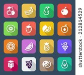 flat fruits icons set. isolated.... | Shutterstock .eps vector #212814529