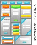 web user interface element set