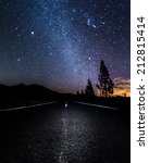 milky way above a road and... | Shutterstock . vector #212815414