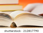 composition with books on the... | Shutterstock . vector #212817790